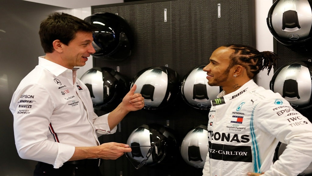Toto Wolff And Lewis Hamilton Pa