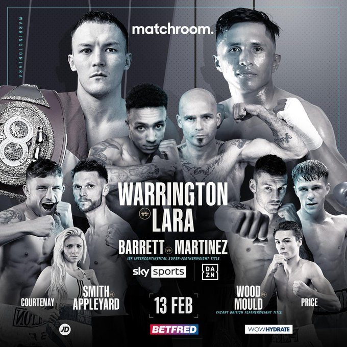 Warrington Vs Lara Poster