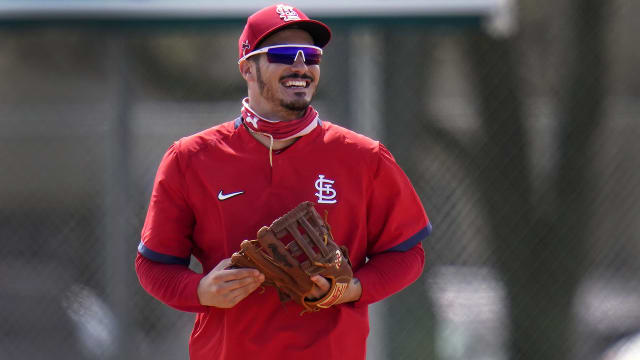 Nolan Arenado In A St. Louis Cardinals Outfit, Working Out This Spring.