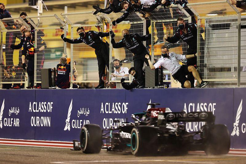 Lewis Hamilton wins the Bahrain Grand Prix 2021