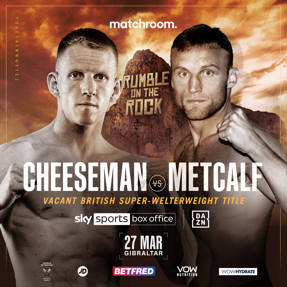 Cheeseman Vs Metcalf British Super Welterweight Title