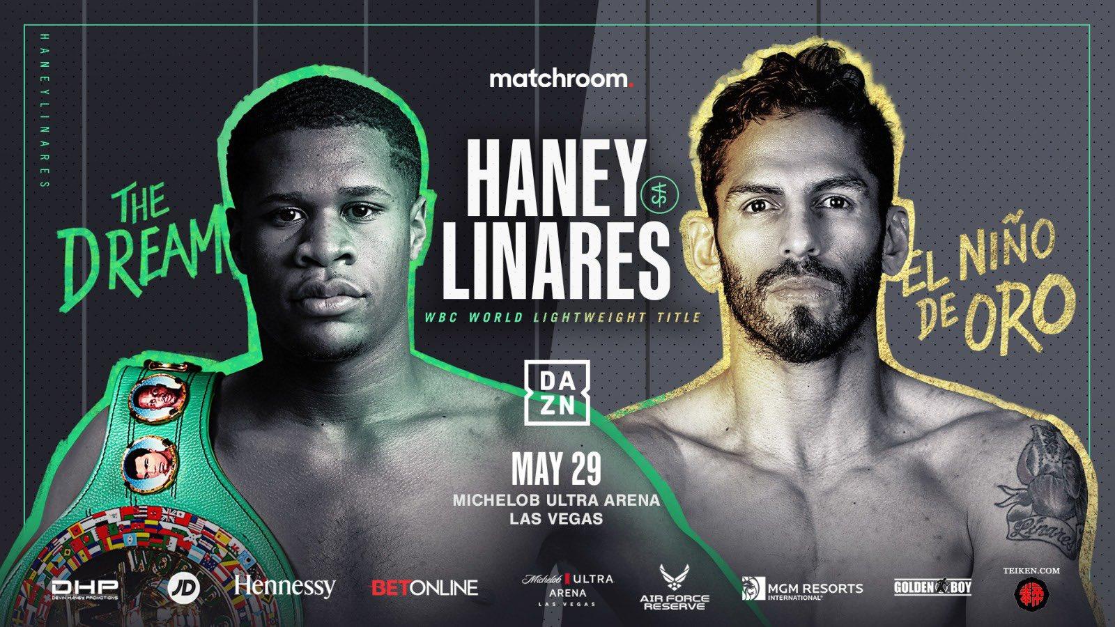 Devin Haney Vs Jorge Linares May 29