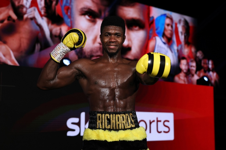 Lerrone Richards Makes Successful Matchroom Debut