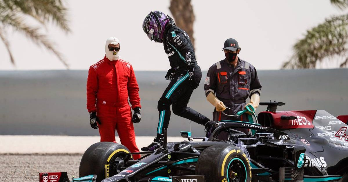 Lewis Hamilton Beached His Mercedes On The Second Day Of The Test