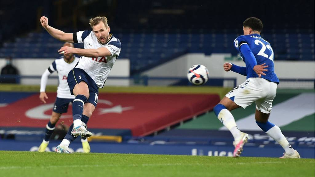 Harry Kane fires Spurs level with wonderful volley.