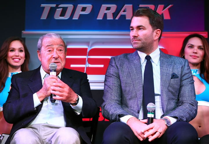 Bob Arum Left Promoter For Tyson Fury And Eddie Hearn Right Promoter For Anthony Joshua Negotiated Joshua Vs Fury