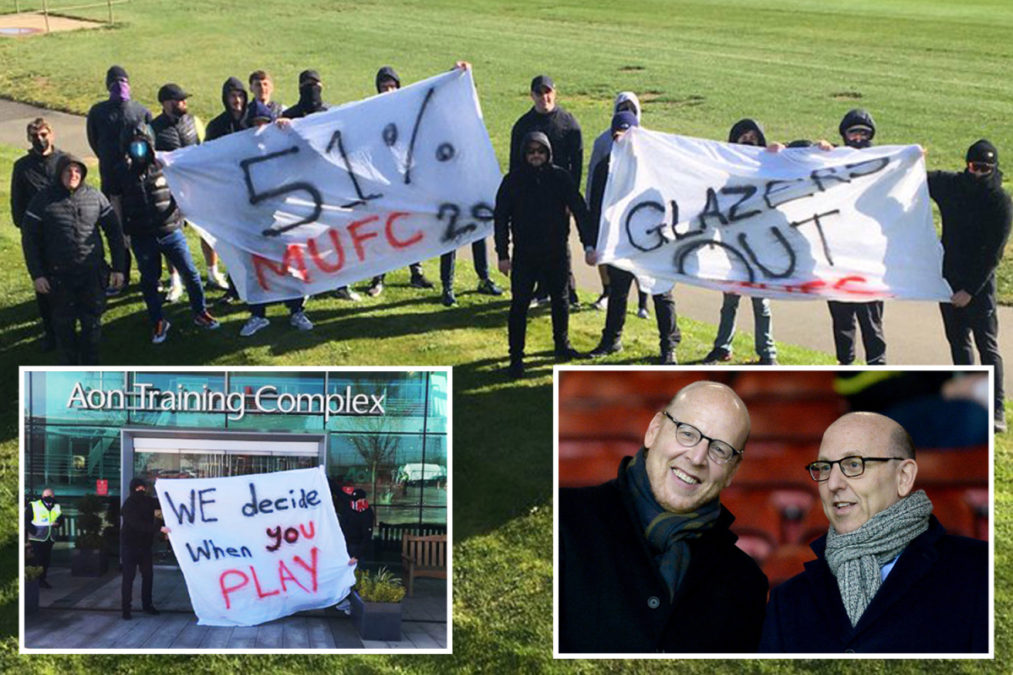 Man Utd Fans Protest Against Glazers