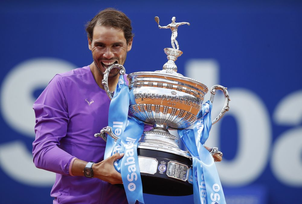 Nadal wins Barcelona Open trophy