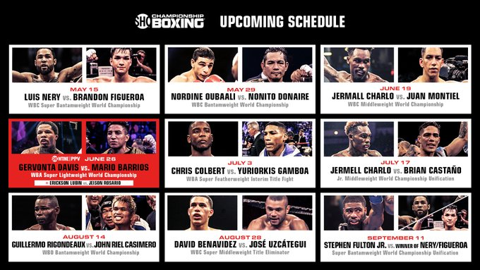 Showitme Boxing Schedule
