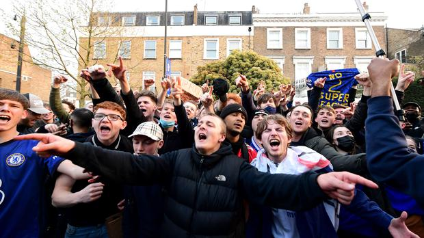 Angry Fans Protest