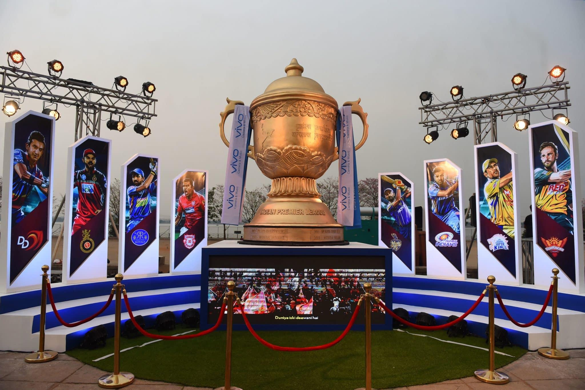 Trophy displayed, ahead of the IPL 2018