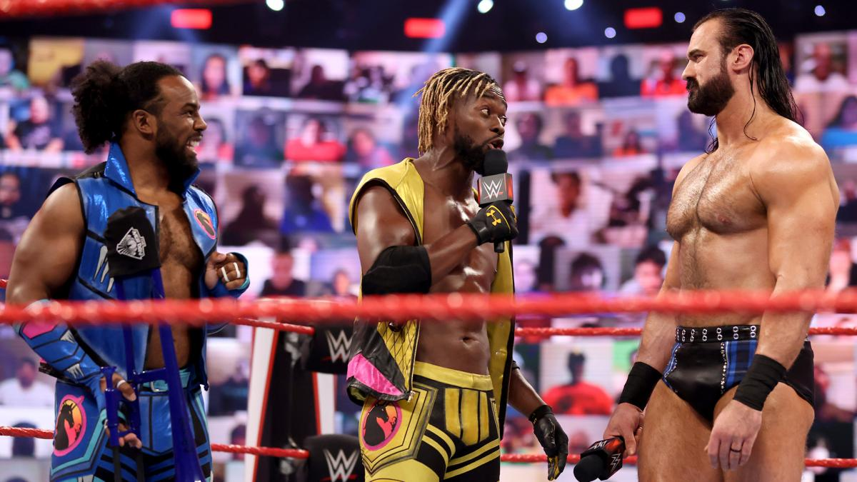 Kofi Kingston and Drew McIntyre on Raw