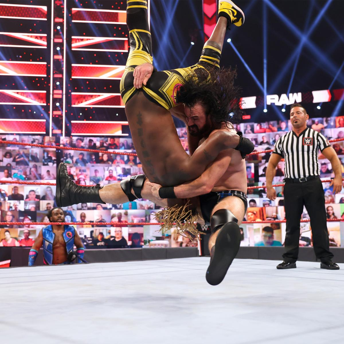 Drew Mcintyre Drops Kofi Kingston On Wwe Raw