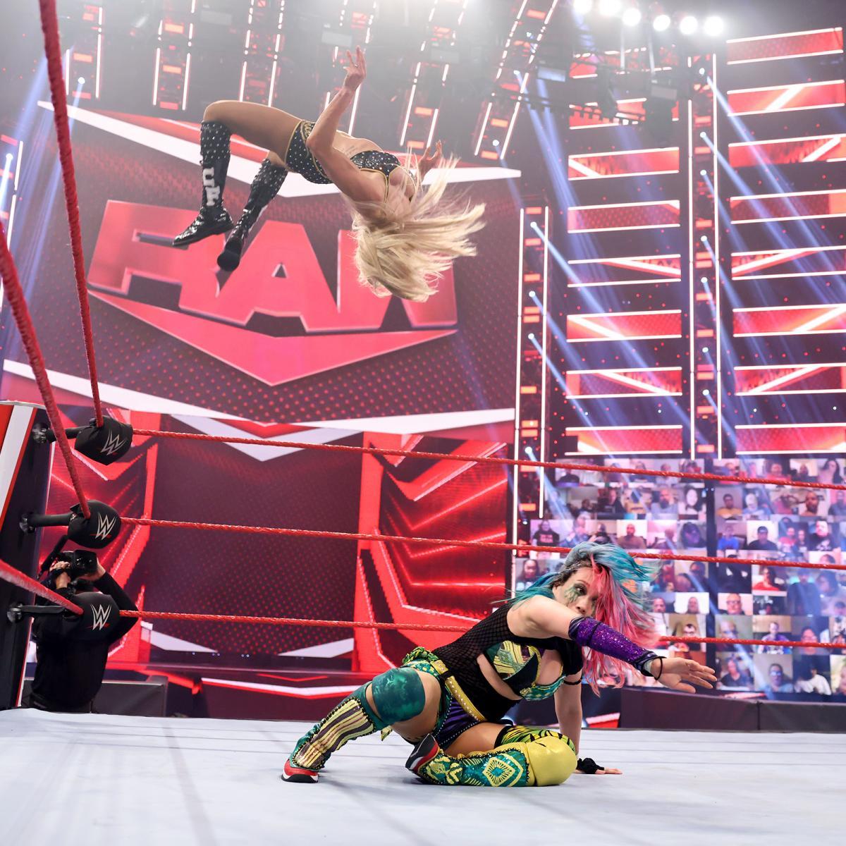 Charlotte Flair Moonsault On Wwe Raw