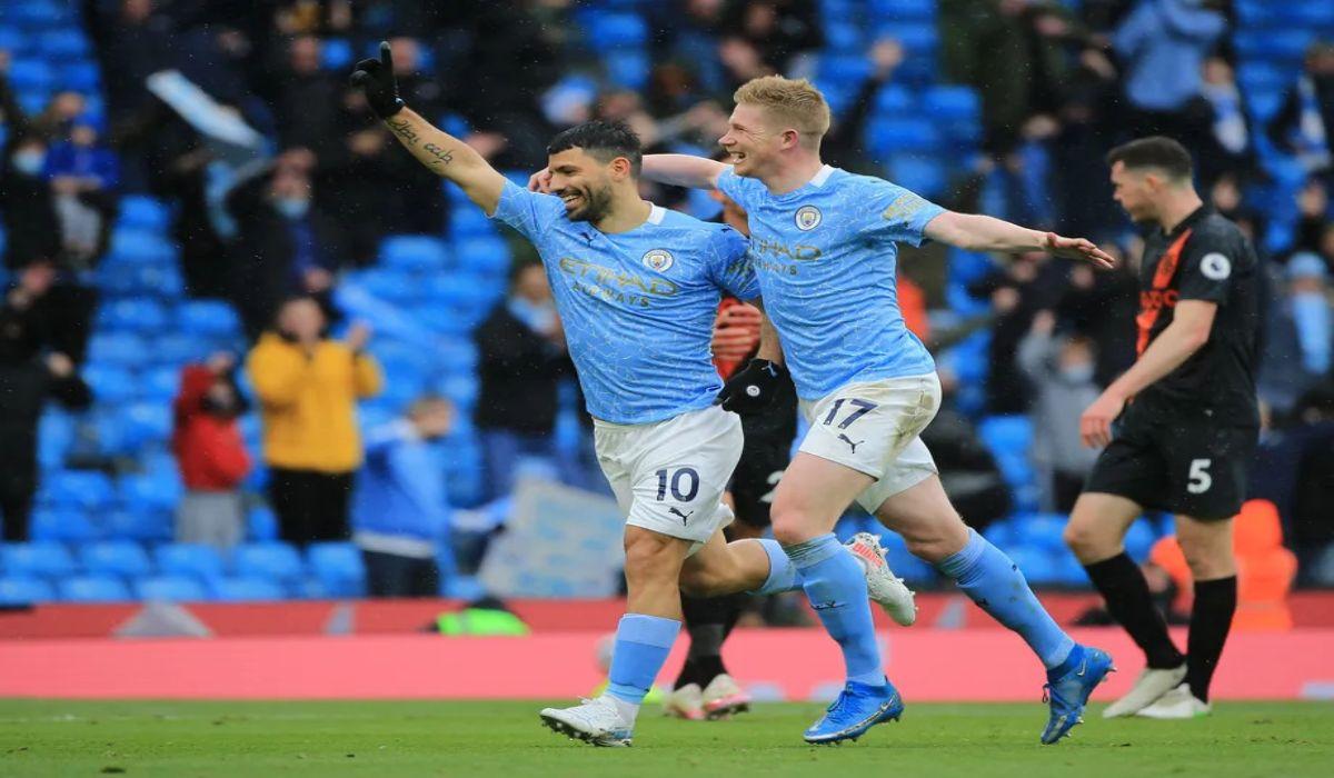 Aguero Scores A Brace As Man City Thumps Everton 5-0 At The Etihad
