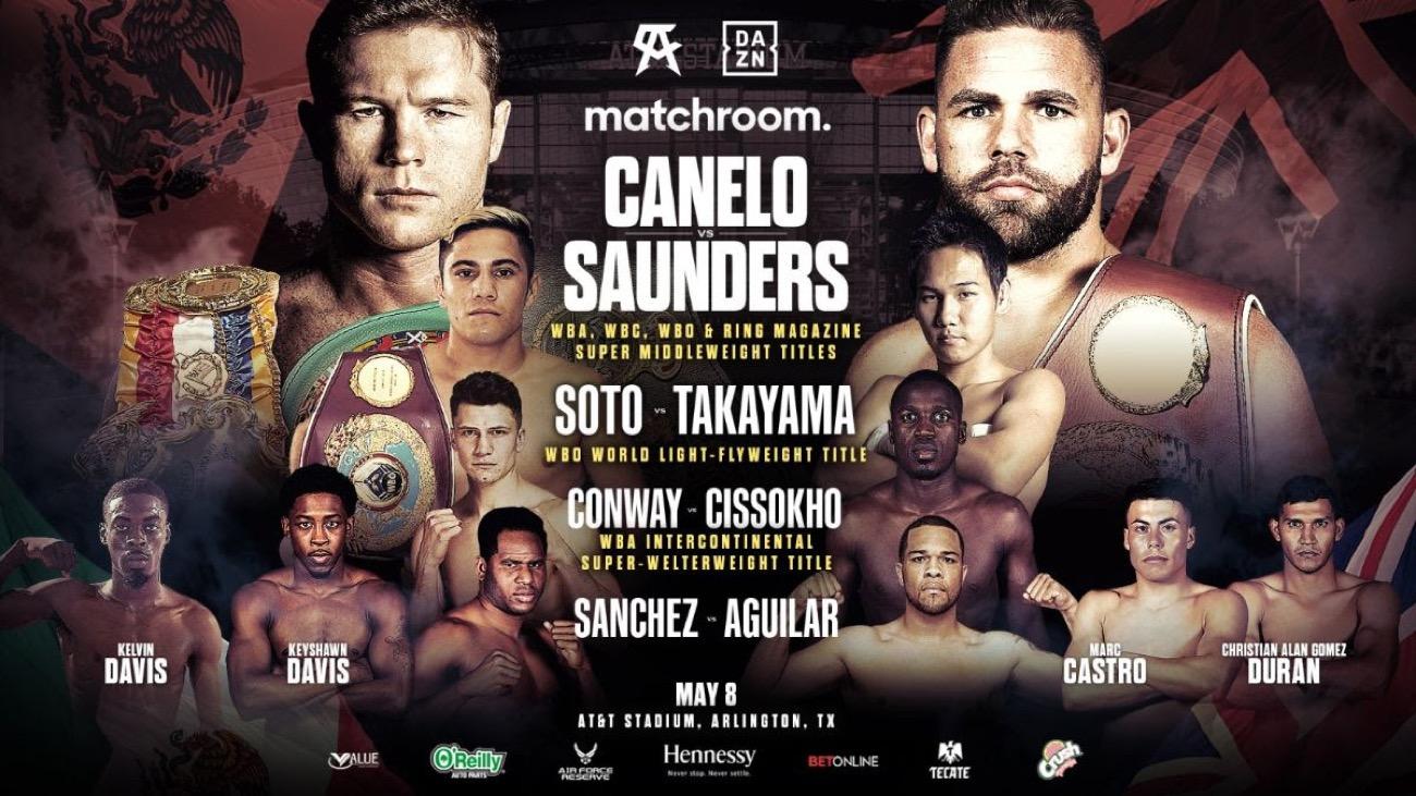 Canelo Vs Saunders Undercard