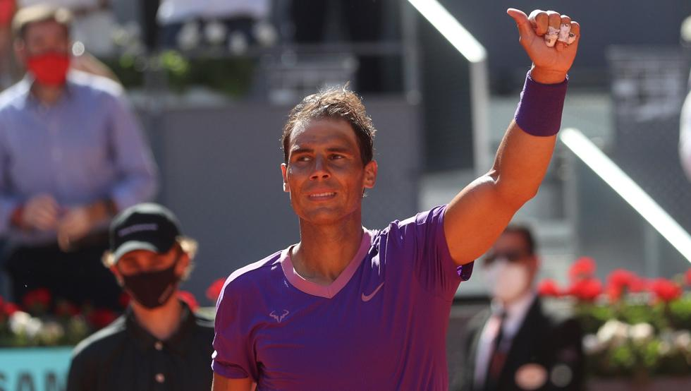 Rafa Nadal beats Carlos Alcaraz at Madrid Open
