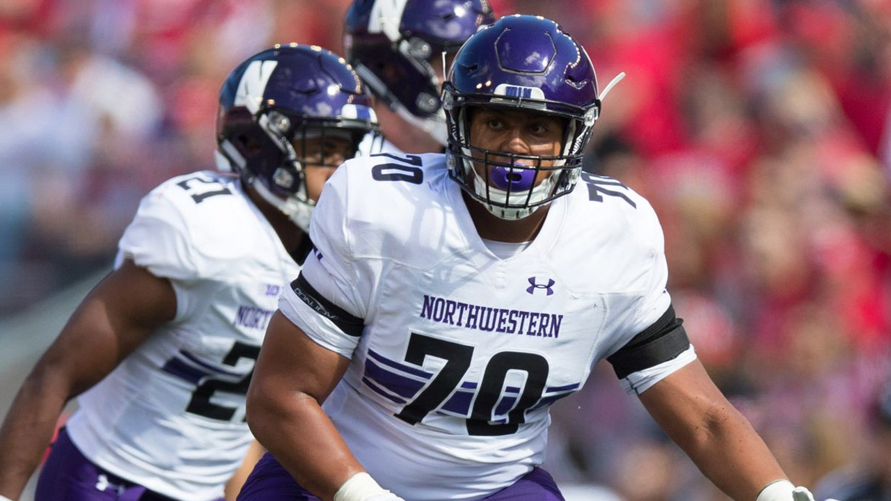 Rashawn Slater is one of the top OT prospects in this draft