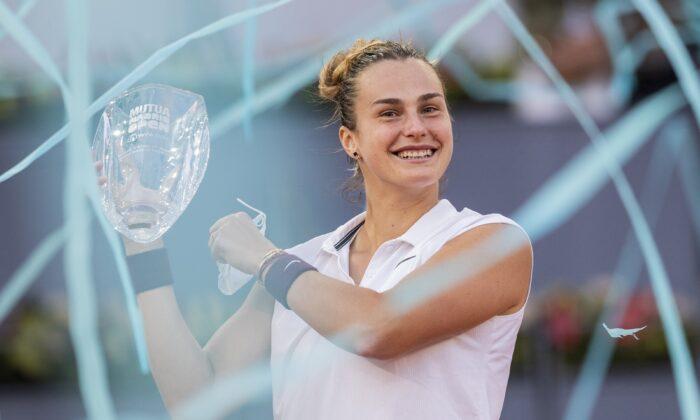 Sabalenka Madrid Open Trophy
