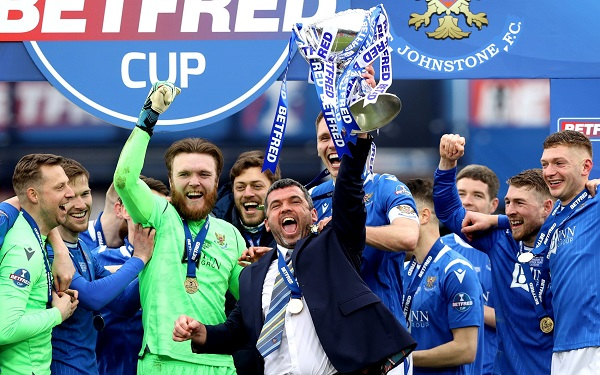 St Johnstone With The League Cup