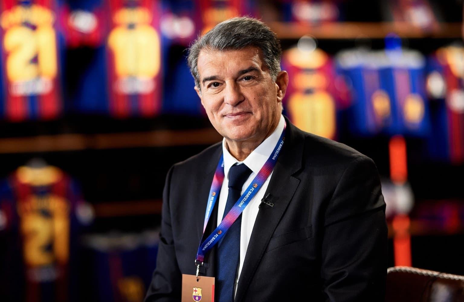 Joan Laporta key to Aguero move