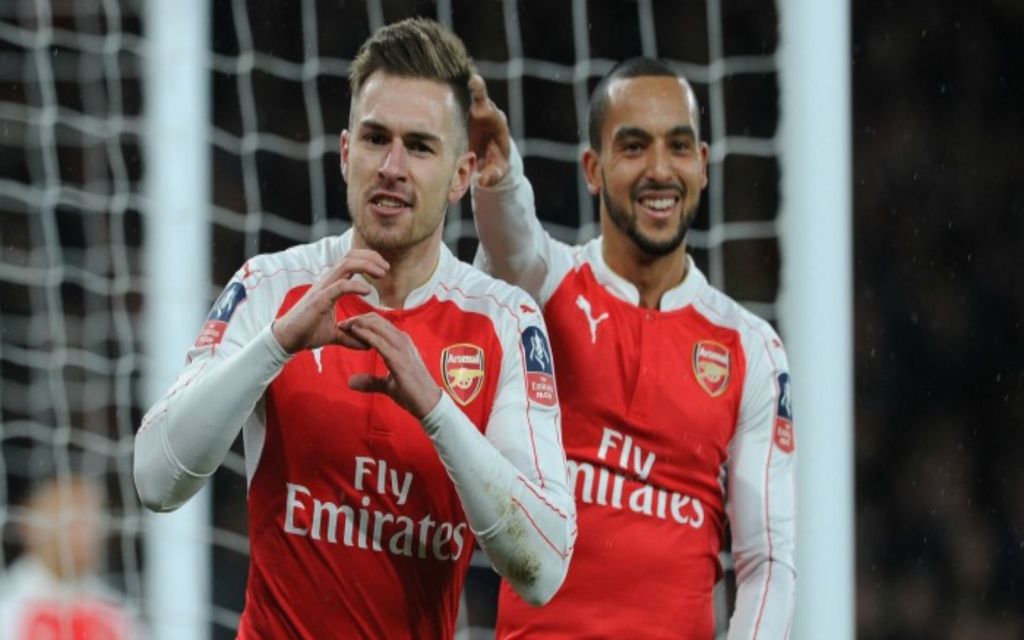 Aaron Ramsey And Theo Walcott Talented Arsenal Players