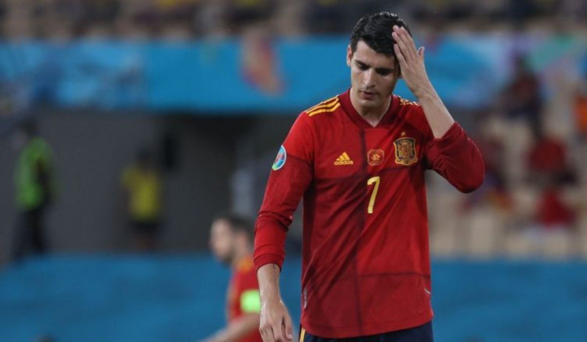 Alvaro Morata Wastes A Great Chance To Score For Spain Against Sweden
