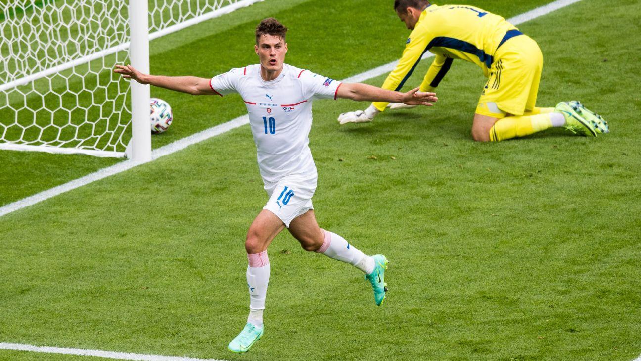 Czech Republics First Goal In Their Euro 2021 Opener