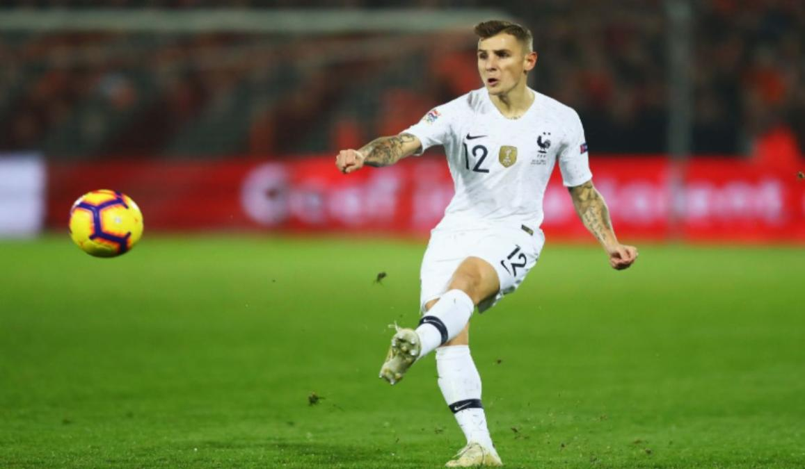 French fullback Lucas Digne will miss the Round of 16 clash against Switzerland