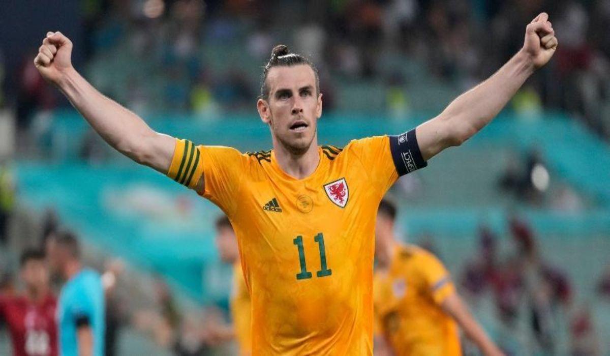Gareth Bale Celebrates Win Against Turkey