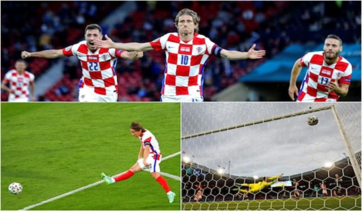 Modric superb goal one of the contenders for the goal of the tournament