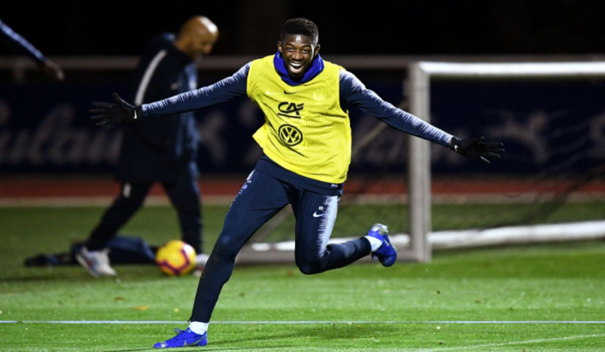 Ousmane Dembele Training With France National Team