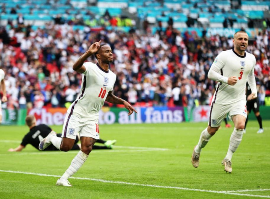 England'S Sterling Wheels Away After Breaking Germany'S Resolve