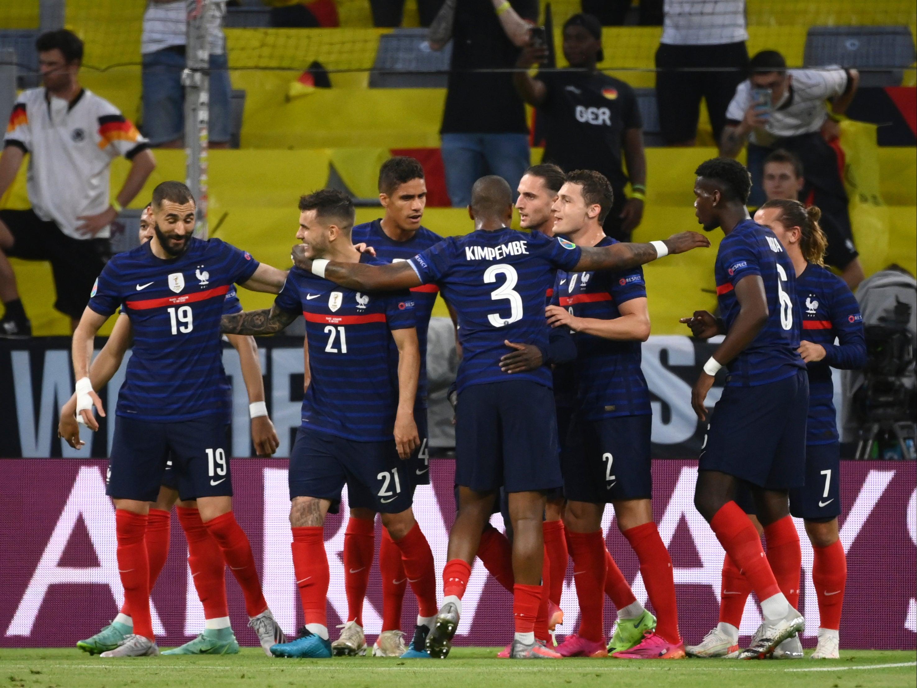 Euro 2020: France players Celebrating goal