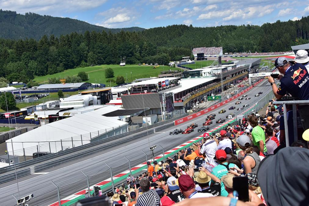 The Start Of The Austrian Grand Prix