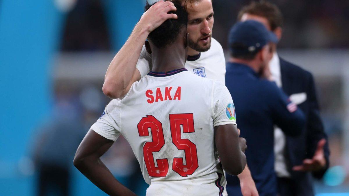 Football Competitions - Kane Consoles Saka after shootout loss