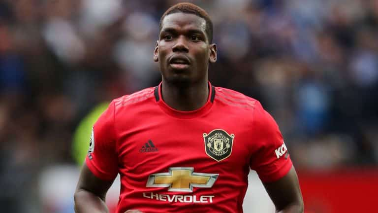 Paul Pogba is Manchester United's record tally.