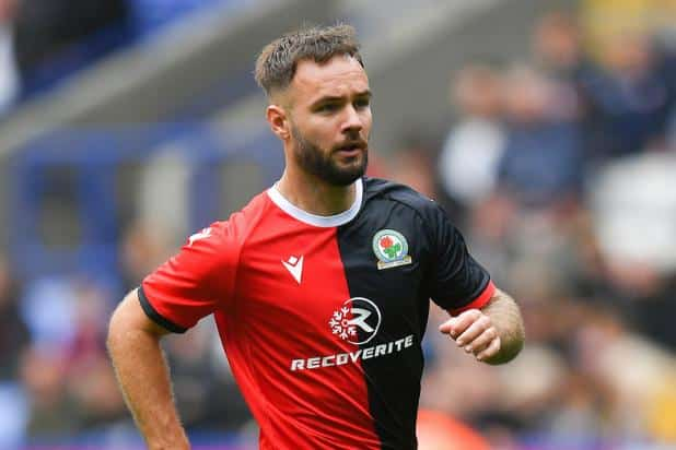 Adam Armstrong playing for Blackburn Rovers
