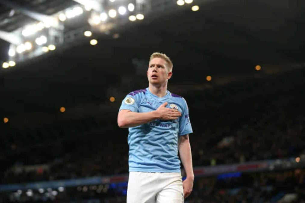 Manchester, England - December 21: Kevin De Bruyne Of Manchester City Celebrates His Team'S Third Goal During The Premier League Match Between Manchester City And Leicester City At Etihad Stadium On December 21, 2019 In Manchester, United Kingdom. (Photo By Victoria Haydn/Manchester City Fc Via Getty Images)